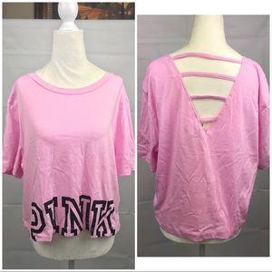 Victoria's Secret Pink Crop Strappy tee